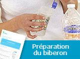 La préparation du biberon